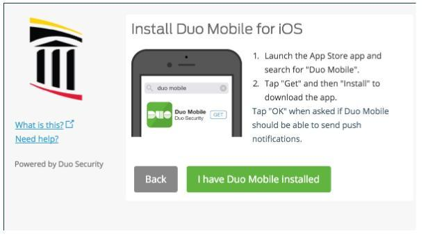 Duo install for your platform.