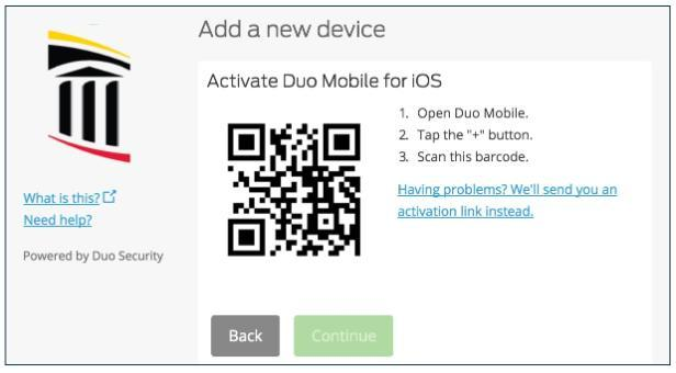 Duo activate for device