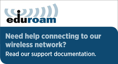Need help connecting to out campus wireless network? Read our support documentation.