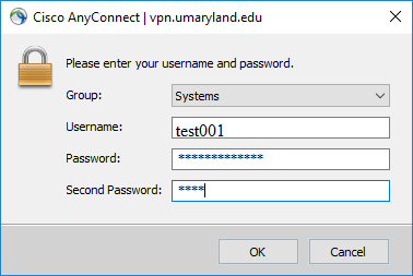 A screenshot of the login screen for VPN Duo.