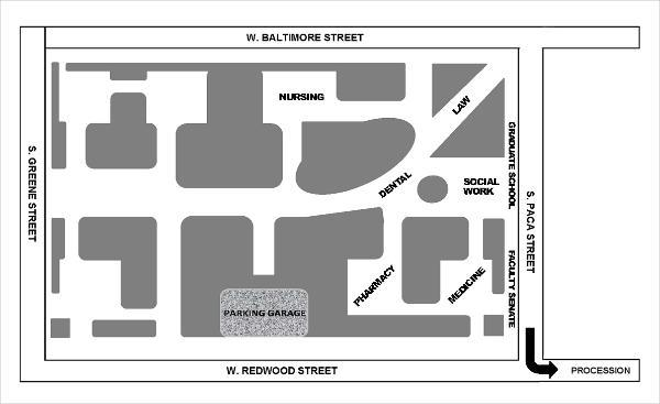 Plaza Park Procession Map