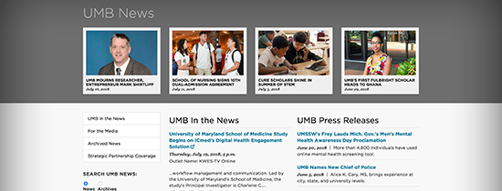 UMB News Screenshot
