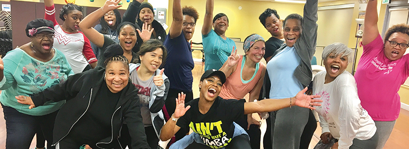 Zumba Class with multiple females