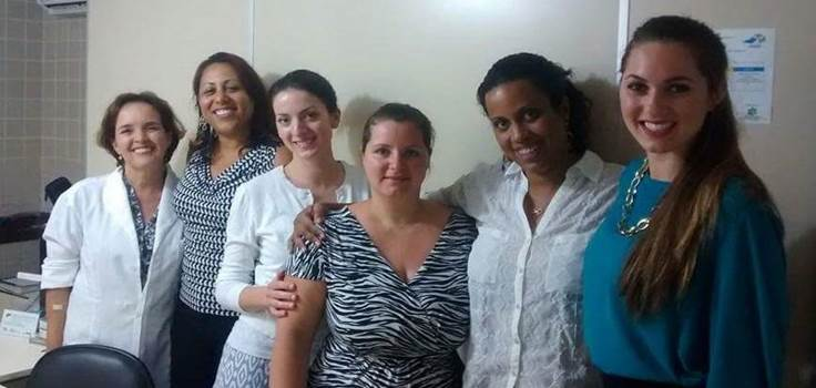 Group of GHIC students and Dr. Rambob in Brazil for GHIC project