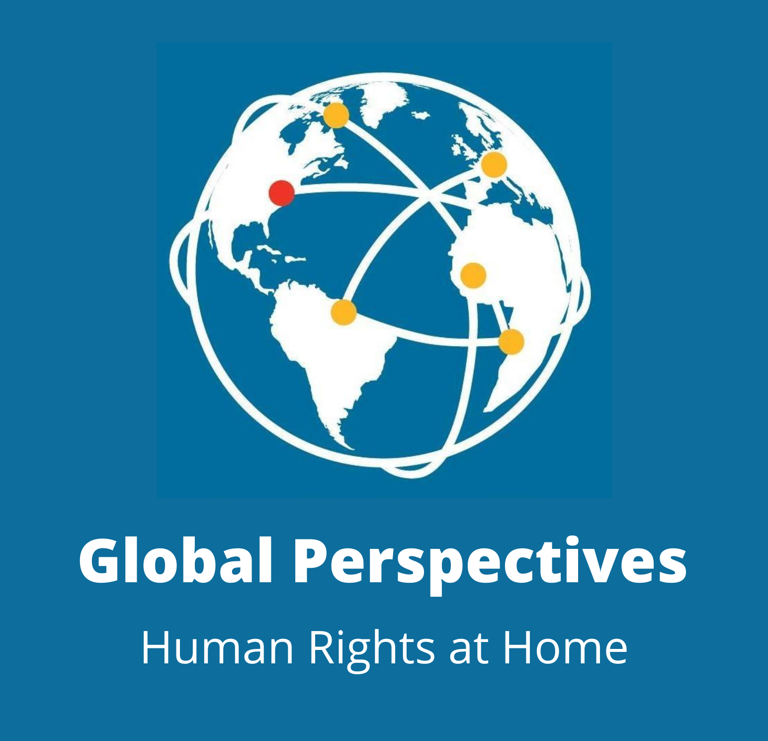 Global Perspectives Logo with Globe and Blue Background