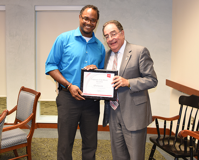 Alfred Guante and Jay A. Perman - Employee of the Month Award (July 2018)