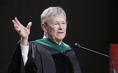 In his keynote address, Dr. William Magee, an alumnus of the University of Maryland School of Dentistry and co-founder of Operation Smile, told graduates to take advantage of their unique gifts.