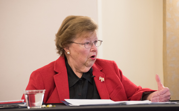 Former Sen. Barbara Mikulski talks issues and advocacy at the President's Panel on Politics and Policy