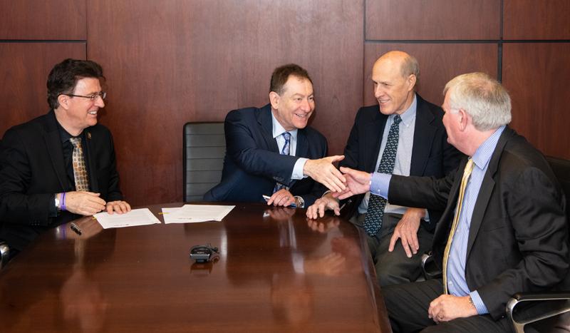 (From left) Karl Steiner, Stephen Davis, Bruce Jarrell, and Philip Rous