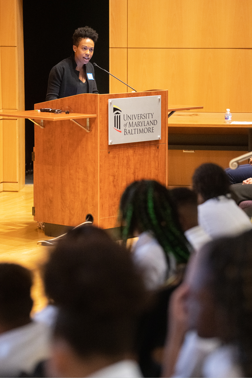 In a keynote address to the UMB CURE Scholars, Baltimore City Health Commissioner Letitia Dzirasa, MD, said,