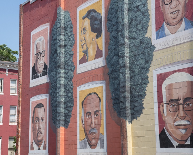 A mural in Druid Heights pays homage to the neighborhood's history.