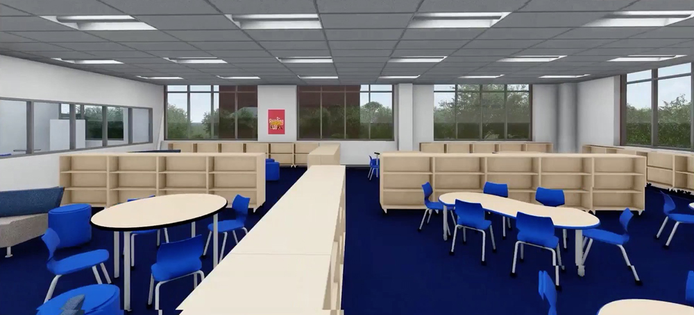 Artist's rendering of the Mother Mary Lange School learning commons