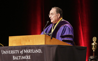 Perman Salutes 'His' Graduates At Commencement
