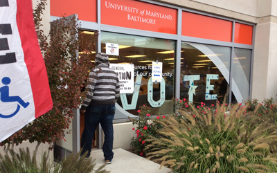 UMB Hosts Early Voting at Community Engagement Center