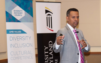 Marc A. Nivet, EdD, MBA, speaks at the Diversity Advisory Council Speaker Series.