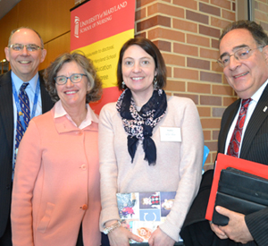 IPE leaders David B. Mallott, MD; Jane M. Kirschling, PhD, RN, FAAN; Heather B. Congdon, PharmD, BCPS, CDE; and Jay A. Perman, MD.