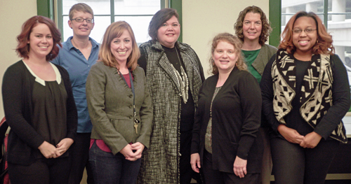 From left, Rachel Beaudry, Sara Betsinger, Jill Farrell, Marlene Matarese, Elizabeth Greeno, Bethany Lee, and Whitney Burton.