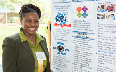 Carolyn Nganga-Good, MS, RN, health programs bureau administrator at the Baltimore City Health Department and a Robert Wood Johnson Foundation public health nurse leader, is among authors of peer-reviewed posters at the summit.