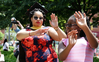 UMB Grads and Families Party in the Park