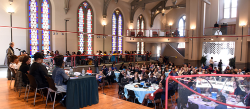 Hundreds of UMB faculty, staff, and students attended the event at Westminster Hall.
