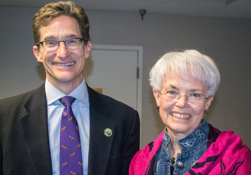 Md. Environment Secretary Ben Grumbles with Md. Sen. Adelaide C. Eckardt