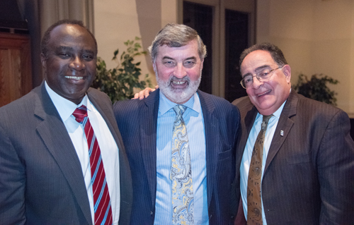 Bankole Johnson, DSc, MD, MBChB; Lord John Alderdice, FRCPsych; and Jay A. Perman, MD, University of Maryland, Baltimore, president