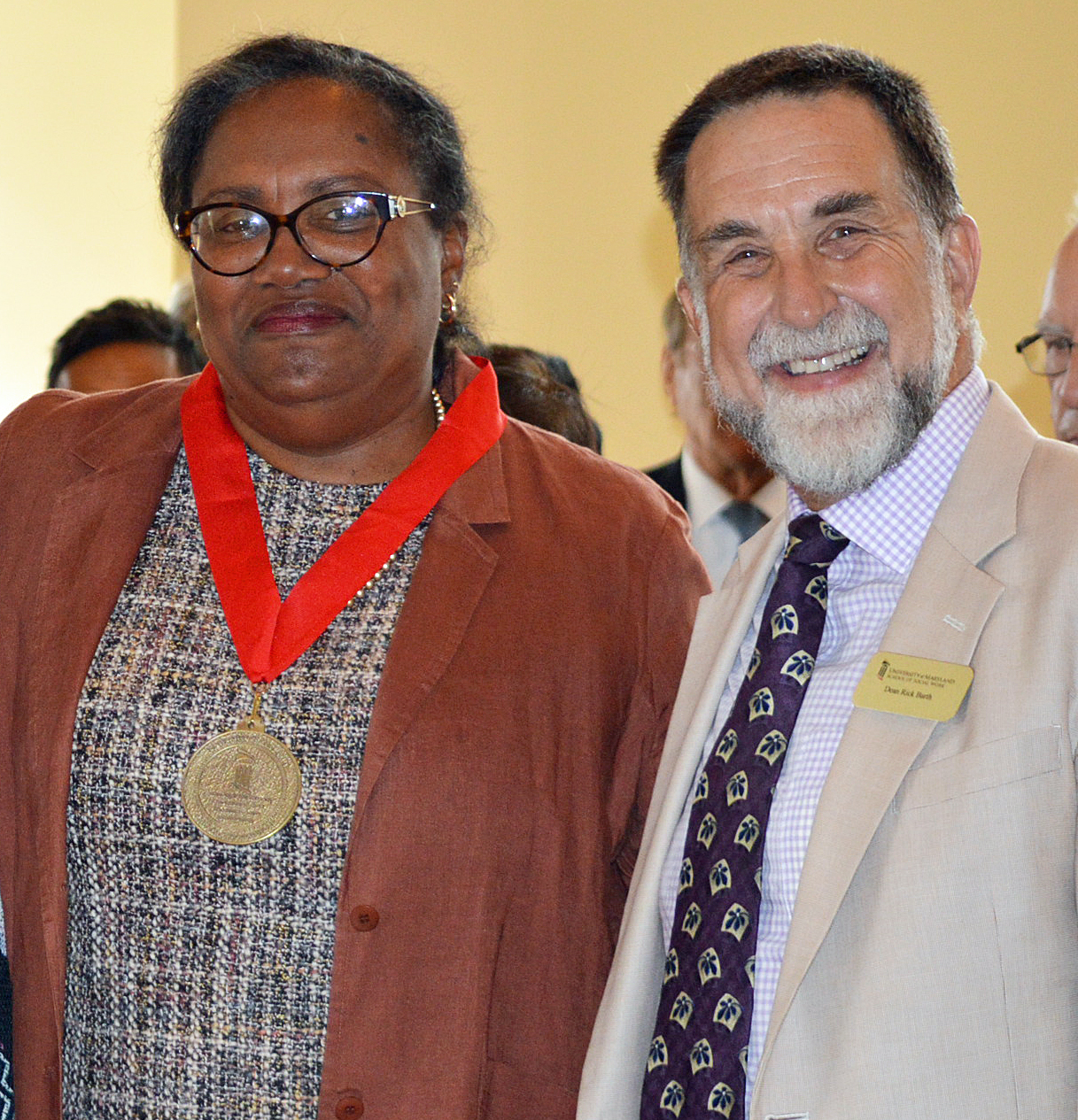 Brenda Jones Harden, PhD, MSW, and Richard P. Barth, PhD, MSW, dean of the University of Maryland School of Social Work.
