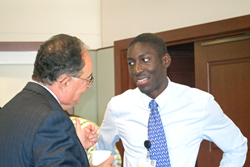 UMB President Jay A. Perman, MD and Jonathan Danquah
