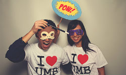 Students having fun at I Heart UMB Day