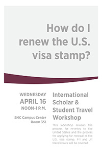 Renewing Visa Stamp Information