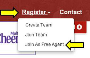 Register - join as a free agent