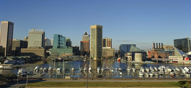 Baltimore inner harbor view
