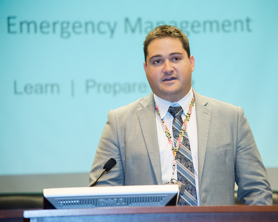 Jonathan Bratt, MS, CEM, UMB's new first-ever executive director of emergency management