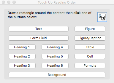 Screenshot of Touch Up Reading Order