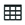 Table Icon with multiple boxes formed together with a black long rectangle at the top